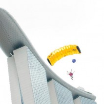 Base Jumping from the Marina Bay Sands Hotel