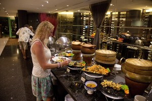 Wow buffet at Chatrium Riverside Hotel